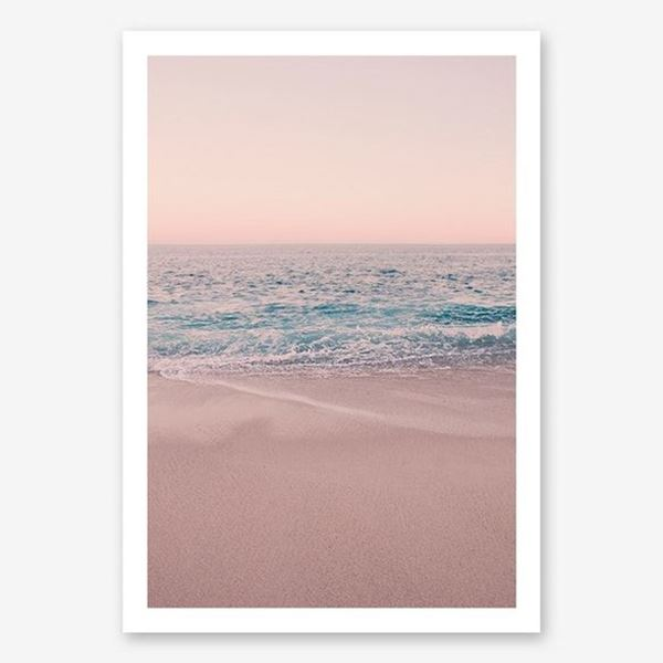 Picture of Rosegold Beach Morning in Print