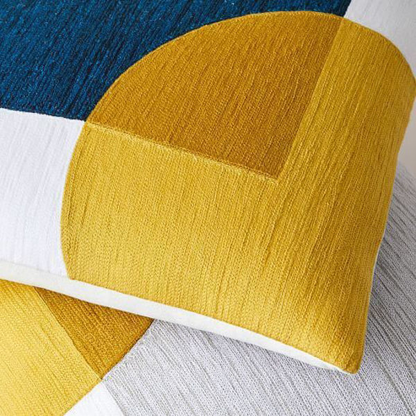 Picture of Crewel Overlapping Shapes Pillow