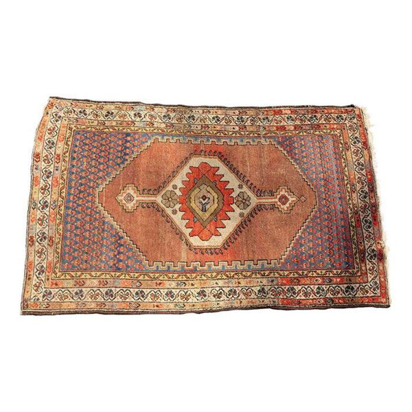 Picture of Floral Peach Pink Oriental Style Rug