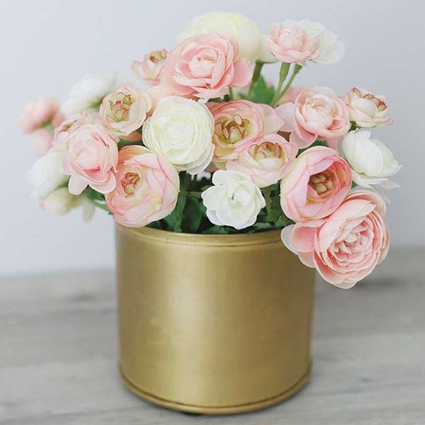 Picture of Mini Silk Ranunculus Bush in Pink Ivory